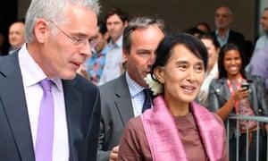 Aung San Suu Kyi leaving the BBC studios, Broadcasting House, London, Britain - 19 Jun 2012