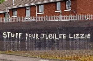 Queen: Anti-monarchy graffiti