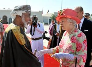 Queen shaking hands: Queen Elizabeth II And Prince Philip Visit Abu Dhabi - Day 5
