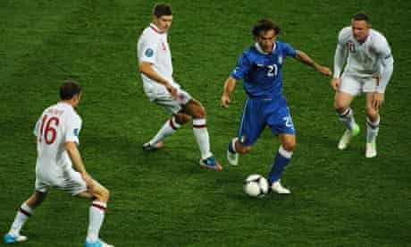 Andrea Pirlo runs rings round England midfield