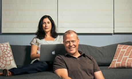 Online love: Melanie Gideon and husband
