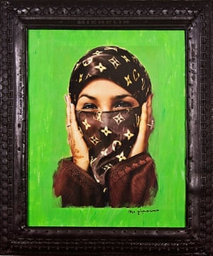 Middle Eastern Art at V&A: Artwork called Saida in Green by Hassan Hajjaj