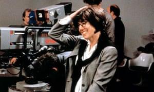 Nora Ephron on set in 2000