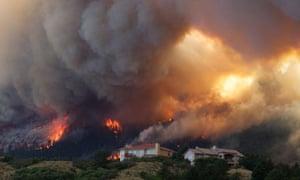 The Waldo Canyon wildfire burns near Colorado Springs