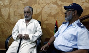 Former Libya PM Al Baghdadi Al-Mahmoudi after extradition from Tunisia