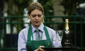 Anyone for champagne? Corporate bubbles at Wimbledon.