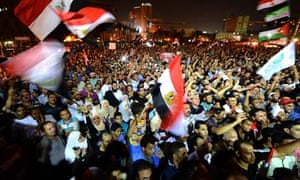 Thousands of Egyptian supporters
