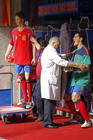 sport: Spain players wax figures ahead of semi final