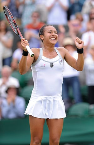 Wimbledon Day 3: Heather Watson celebrates after her victory
