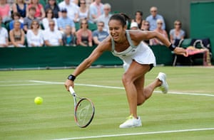 Wimbledon Day 3: Heather Watson during her victory