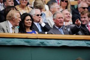 Wimbledon Day 3: Prince Charles and Brucie at Wimbledon 2012