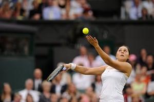 Day 3 Wimbledon: Tamira Paszek at Wimbledon 2012