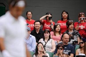 Day 3 Wimbledon: Roger Federer fans at Wimbledon 2012