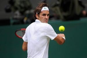 Day 3 Wimbledon: Roger Federer at Wimbledon 2012