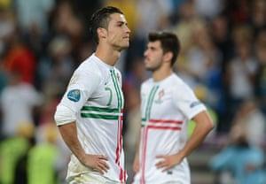 sport13: Portuguese forward Cristiano Ronaldo rea