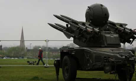 Olympic missile in Blackheath