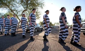All woman chain gang in Phoenix Arizona