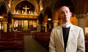 Father Simon Morris of St Mary's church in Tottenham