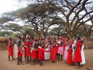 Your Pictures: The Maasai tribes, the younger members of the community look very colourful