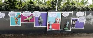 London Pleasure Gardens: Ron English Wall at the London Pleasure Gardens