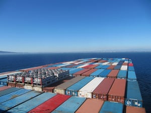 Photo Comp June: View from the bridge of the MV Hanjin Miami towards Long Beach, California