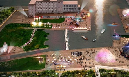 Graphic of completed London Pleasure Gardens