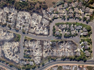 Colorado wildfire: An aerial view shows homes destroyed by wildfire