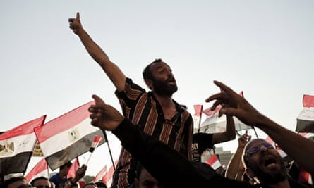 Egyptians in Tahrir Square