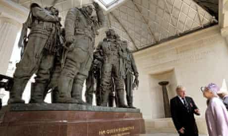 Queen Elizabeth II And The Duke Of Edinburgh Unveil The Bomber Command Memorial