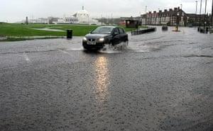 UK Flooding: Whitley Bay, North Tyneside