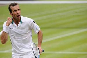 Day 5 Wimbo: Radek Stepanek at Wimbledon 2012