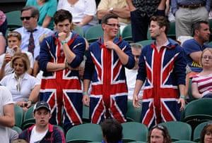 Day 5 Wimbo: Watson fans Wimbledon 2012