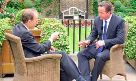 David Cameron being interviewed for The Andrew Marr Show