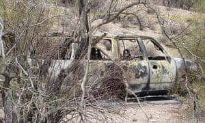Burnt SUV Arizona