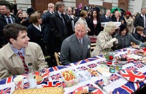 Regatta: Prince Charles and Camilla attend the Big Jubilee Lunch in Piccadilly