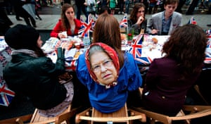 Regatta: A Royal supporter at the Big Jubilee street party in Piccadilly