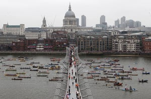 Jubilee Thames pageant: Diamond Jubilee River Pageant crosses St Paul's Catherdral