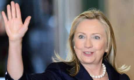 Hillary Clinton arrives in Geneva