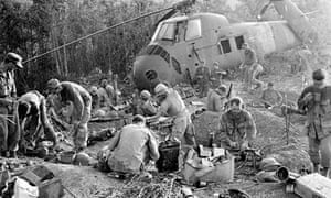US marines in 1975 during the Vietnam war