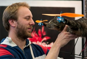 Orville, the flying cat: Dutch artist Bart Jansen looks at his Orvillecopter