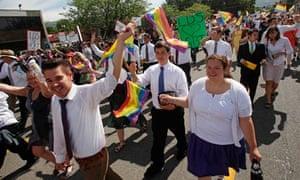 Mormons march in Utah's gay pride parade