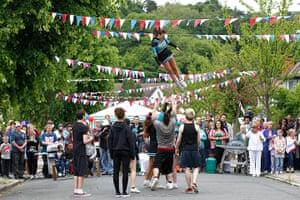 Diamond Jubilee day 2: People enjoy a street party in Croydon, south London