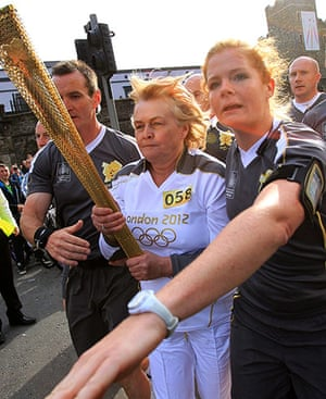 Olympic torch day 17