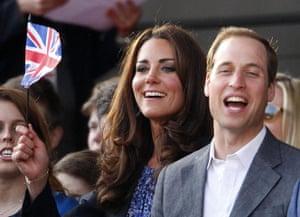 Jubilee fashion: The Duke and Duchess of Cambridge attend the diamond jubilee concert