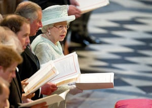 Service Of Thanksgiving: The Queen inside St Pauls Cathedral
