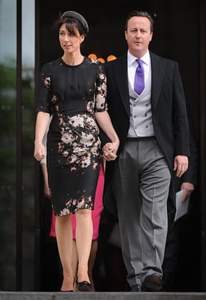 Service Of Thanksgiving: Samantha and David Cameron leave St Paul's