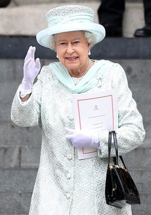 Service Of Thanksgiving: The Queen departs St Paul's Cathedral