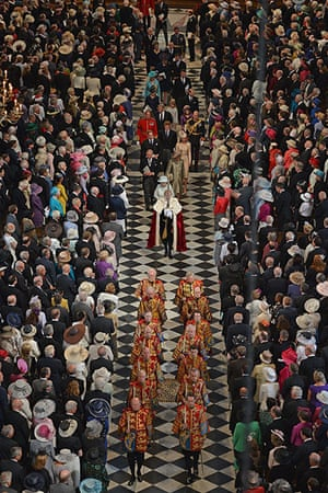 Service Of Thanksgiving: The Queen and members of the Royal Family leave St Paul's Cathedral