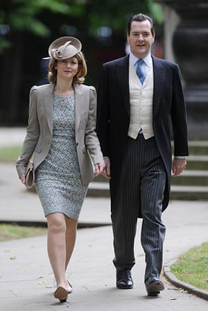Service Of Thanksgiving: Chancellor George Osborne and his wife Frances arrive