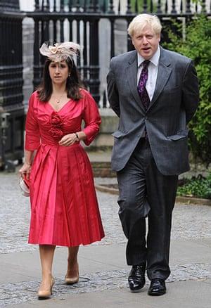 Service Of Thanksgiving: Boris Johnson and his wife Marina